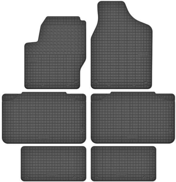 Volkswagen Sharan I 7 per (1996-2010) gummimåttesæt (alle måtter)